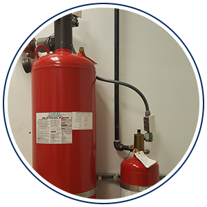 close up of fire extinguisher